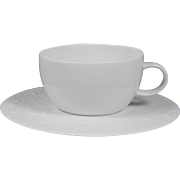 ROSENTHAL Bjorn Wiinblad MAGIC FLUTE WHITE Cup & Saucer Set
