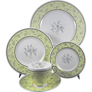 WEDGWOOD WINDRUSH W3973 Hand Painted Complete 5 Pc Place Setting