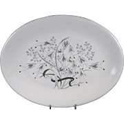 """WEDGWOOD WILD OATS W4166 Large Oval Serving Platter 15 1/4"""" x 11 1/2"""""""