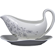 WEDGWOOD WILD OATS W4166 Gravy with Attached Tray