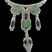 SALE Christian Dior Art Deco Style Rhinestone Necklace