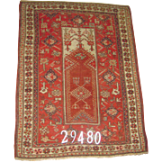 Turkish handmade Melas Prayer Rug, approx. 4'-11X3'-9