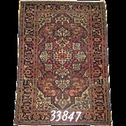 Persian Handmade Farahan Rug Approx. 4'-9X3'-3