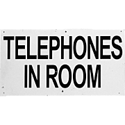SALE Midcentury Motel Sign - Telephones in Room - Golf Advertising
