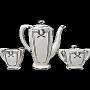 SALE Lenox Belleek Porcelain Sterling Silver Overlay Coffee Service