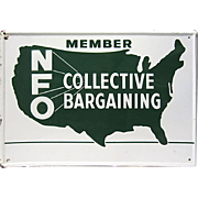 SALE Embossed Farming Sign, National Farmers Organization (NFO)