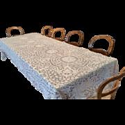 """Italian Point De Venise Lace Tablecloth 134"""" X 66"""""""