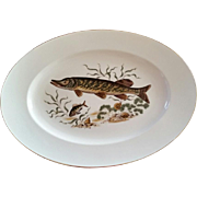 Porcelain Platter circa 1930 JWK Western Germany with fish motif