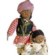 Pair of Indian Dolls from C.M.S. Mission, Baharatpur