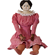 "A 26"" Ludwig Greiner doll with remains of her Greiner label"