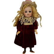 SOLD German bisque head walking doll all original 6 inches