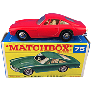 Matchbox Lesney 75b Ferrari Berlinetta Regular Wheels Transitional RED MIB