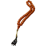 GENUINE Ottoman Amber Butterscotch Faturan Prayer Beads  late 19th century