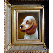 Benson/Canvas Painting of a Basset Hound Oil