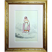 W. Warman  Portrait of a Young Girl in Oriental Outfit