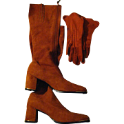 Caramel Suede Vintage (70's) Golo Boots