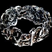 SALE Maskit -1960'S  Artisan Handmade Artform 925 Sterling Silver Bracelet