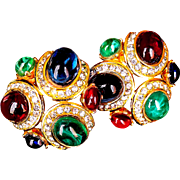REDUCED Ciner  Runway Couture Splendor Of The Jewels Of India Earrings
