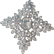 REDUCED Kenneth Jay Lane 1990's  Couture  Jackie O. Star Crystal Fantasy Brooch