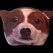 Whimsical dog face purse