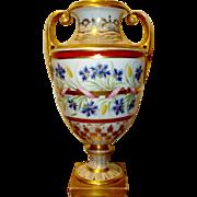 Antique English Coalport Porcelain Vase