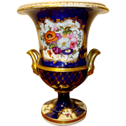 Antique English Coalport Porcelain Botanical Vase