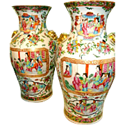 A Very Fine PAIR Of Antique Chinese Porcelain Vases