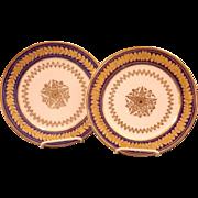 PAIR OF Fine Antique Paris Porcelain Plates
