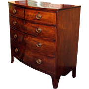 c. 1800 George III Mahogany Two Over Three Drawer Chest