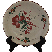Faience Fluted Bowl