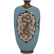 Silver Wire & Body Japanese Golden Age Cloisonne Vase