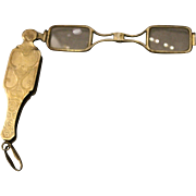 19th Century French Gilt Silver Lorgnette