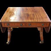 c. 1800 English George III Mahagony Sofa Table