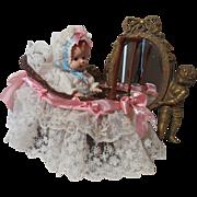 SALE Little Bitty Baby Doll In Fancy Carriage