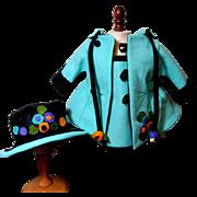 Whimsical Lenci Doll Costume- Coat, Hat, & Dress
