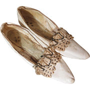 Beautiful Ancient Victorian Wedding Slippers
