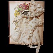 SALE Precious Silk Doll Dress & Bonnet