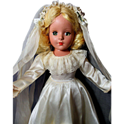 SALE Enchanting Vintage Bride Doll-1945