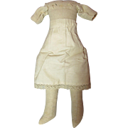 SALE Sturdy Antique Cloth Doll Body