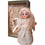 Beautiful All Bisque Doll In An Elegant Box