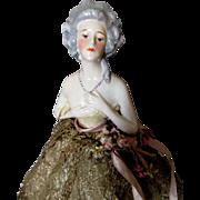 Antique Half Doll Boudoir Lamp