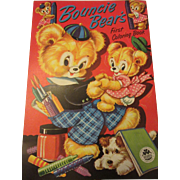 """Marvelous """"Bouncie Bear's Vintage Coloring Book By Merrill"""