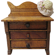 Antique Dolly Dresser Filled With Tiny Clothes!