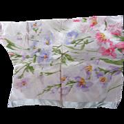 Pretty Antique Silk Taffeta Scrap-Floral
