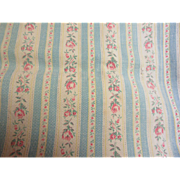 SOLD Old Cotton Pillow Ticking Fabric-Broken In