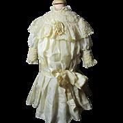 SALE Luscious Antique Silk Doll Dress
