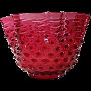 Cranberry Hobnail Gas Lamp Shade