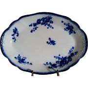 "Flow Blue Platter ""Marchal Neil"" made by Grindley, England"