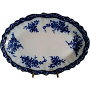 Touraine Flow Blue Platter from Stanley Pottery England