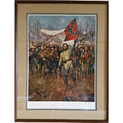 """Forward the Colors"" a Print signed by Don Troiani"